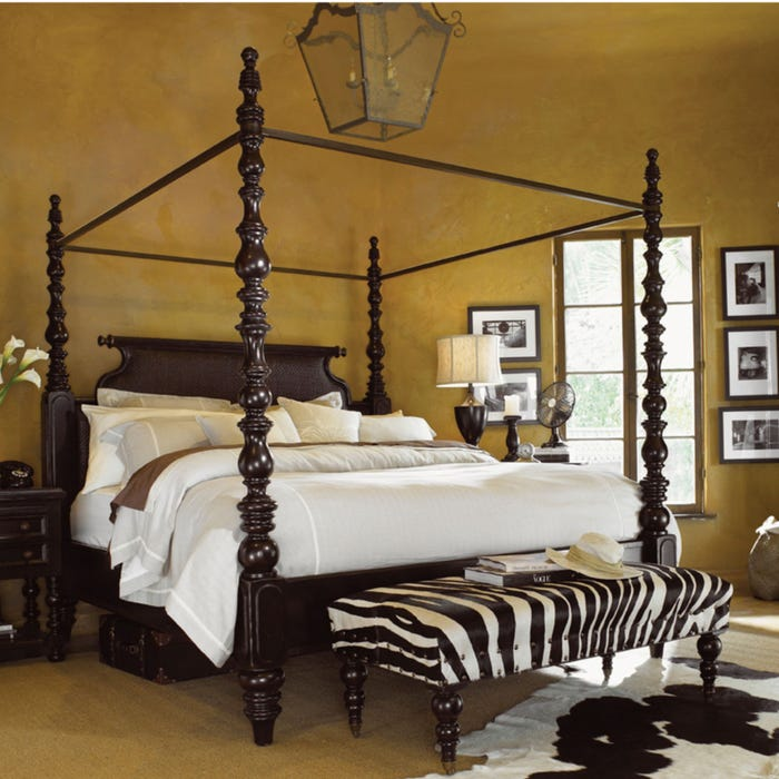 innovative design 9894a 81b53 Tommy Bahama Kingstown Sovereign Queen Size Poster Bed