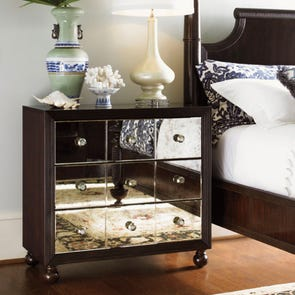 Tommy Bahama Royal Kahala Starlight Mirrored Nightstand