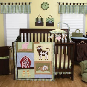 Trend Lab Baby Barnyard 3 Piece Crib Set