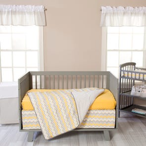 Trend Lab Buttercup Zigzag 3 Piece Crib Set