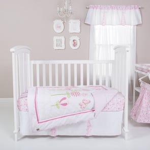 Trend Lab Floral Fun 6 Piece Crib Bedding Set