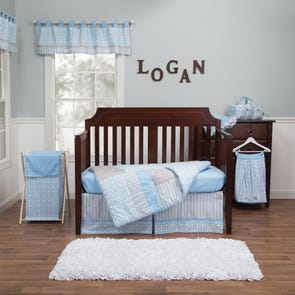 Trend Lab Logan 3 Piece Crib Bedding Set