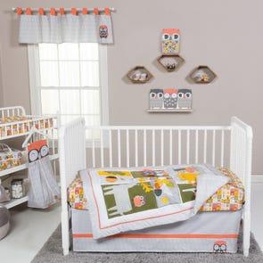 Trend Lab Olive Owl 5 Piece Crib Bedding Set