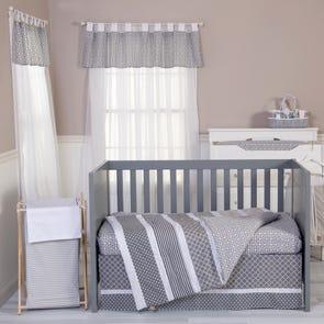 Trend Lab Ombre Gray 3 Piece Crib Bedding Set