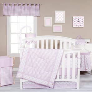 Trend Lab Orchid Bloom 3 Piece Crib Bedding Set