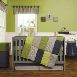 Trend Lab Perfectly Preppy 3 Piece Crib Bedding Set