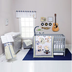 Trend Lab Safari Rock Band 6 Piece Crib Bedding Set