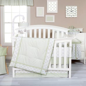 Trend Lab Sea Foam 3 Piece Crib Bedding Set