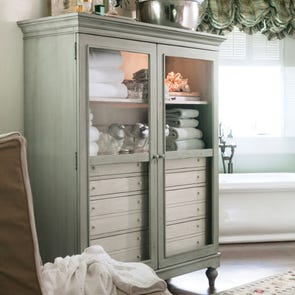 Paula Deen Home The Bag Lady's Cabinet in Spanish Moss Finish