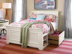 Universal Smartstuff Classics 4.0 Full Size Panel Storage Bed in Summer White