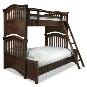 Universal Smartstuff Classics 4.0 Twin Over Full Bunk Bed with Trundle in Classic Cherry