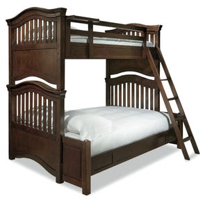Universal Smartstuff Classics 4.0 Twin Over Full Storage Bunk Bed in Classic Cherry