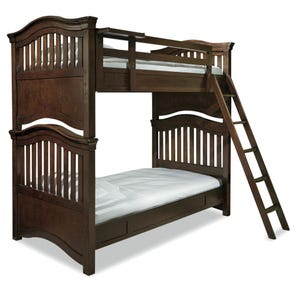 Universal Smartstuff Classics 4.0 Twin Size Bunk Bed in Classic Cherry