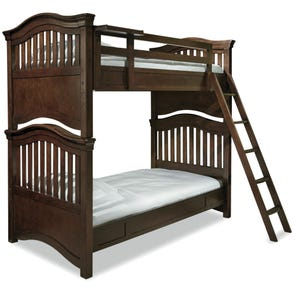 Universal Smartstuff Classics 4.0 Twin Size Bunk Bed with Trundle in Classic Cherry