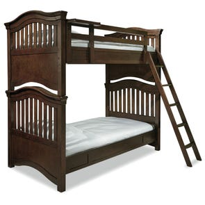 Universal Smartstuff Classics 4.0 Twin Size Storage Bunk Bed in Classic Cherry