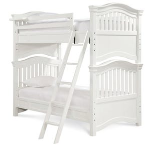 Universal Smartstuff Classics 4.0 Twin Size Storage Bunk Bed in Summer White
