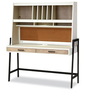 Universal Smartstuff #myRoom Desk with Hutch in Gray and Parchment