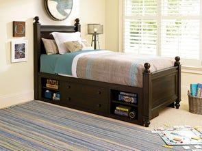 Universal Smartstuff Paula Deen Kids Guys Twin Size Storage Reading Storage Bed