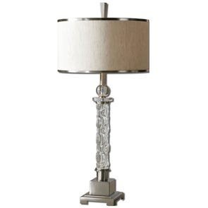 Uttermost Caecilia Amber Glass Table Lamp