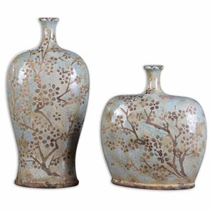 Uttermost Candan Brown Gold Boxes Set of 2