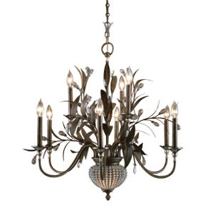 Uttermost Cristal De Lisbon 6 + 2 Light Chandelier