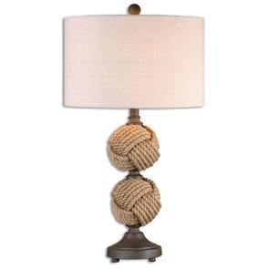 Uttermost Higgins Rope Sphere Floor Lamp