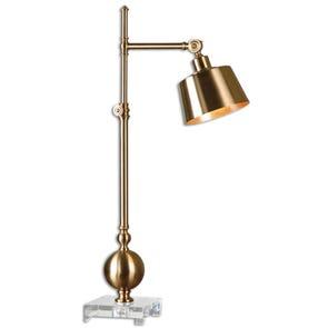 Uttermost Dalou Scroll Silver Floor Lamp