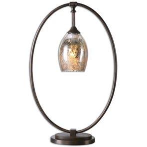 Uttermost Laton Brass Sphere Table Lamp
