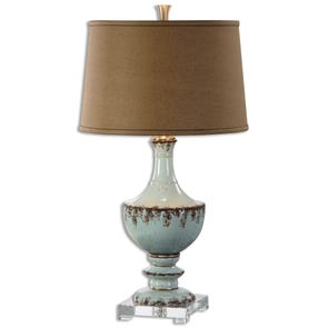 Uttermost Melizzano Ivory Gray Table Lamp
