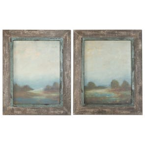 Uttermost Midnight Botanicals Wall Art Set of 2