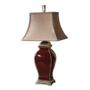 Uttermost Ovidius Mini Crackle Gray Table Lamp