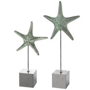 Uttermost Starfish & Coral Shadow Box Art Set of 2