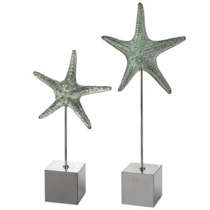 Uttermost Starfish & Coral Shadow Box Art Set of 2