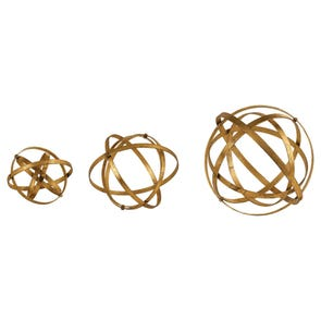 Uttermost Stetson Bronze Spheres Set of 3