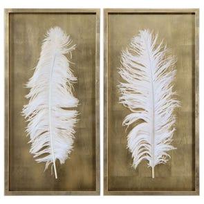 Uttermost Whispering Wind Framed Art Set of 2