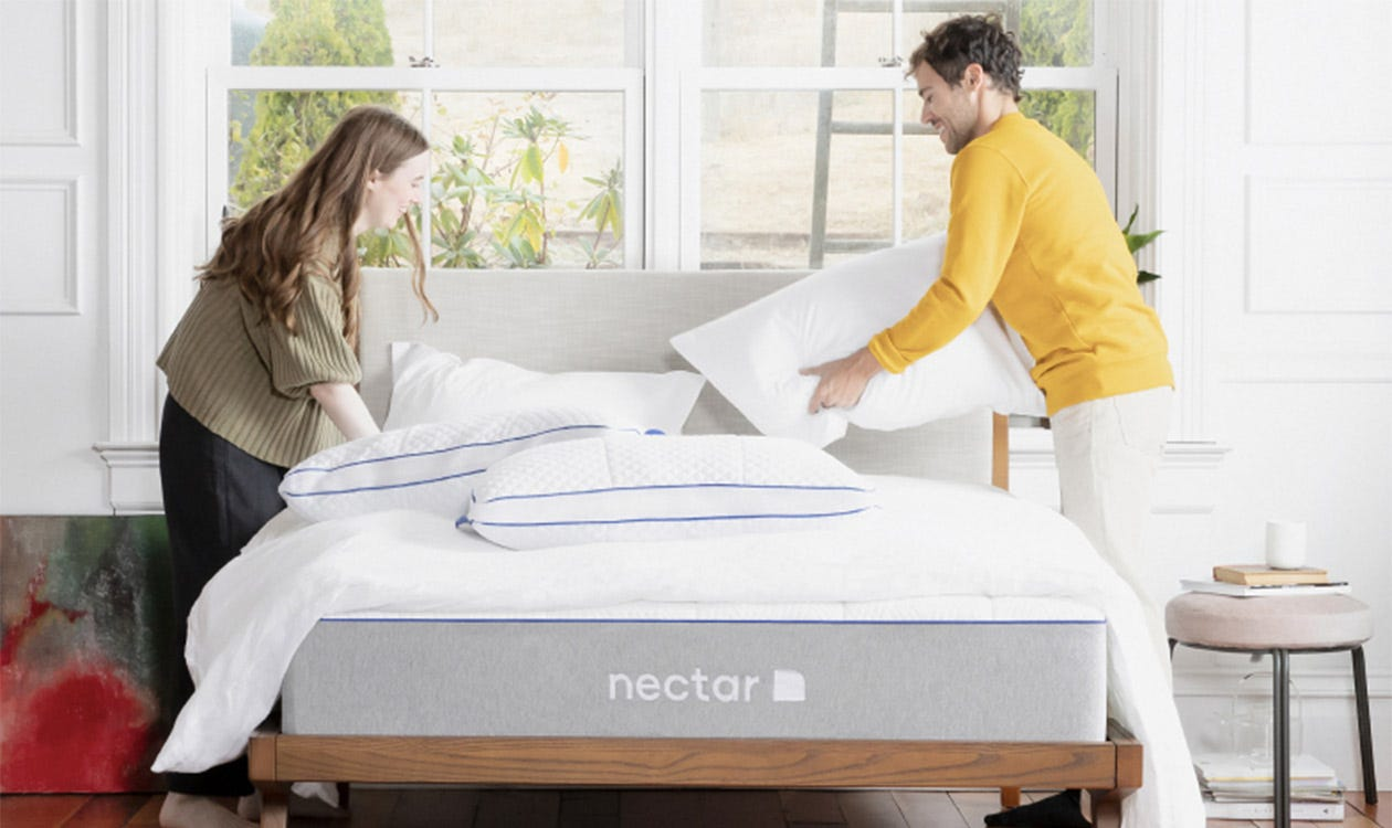 A couple makes their Nectar mattress
