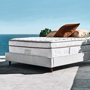 Saatva mattress near an ocean view