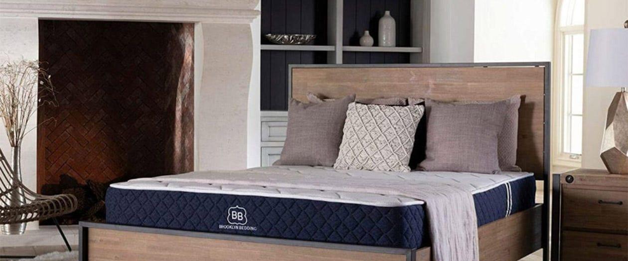 Brooklyn Signature mattress set up in a room