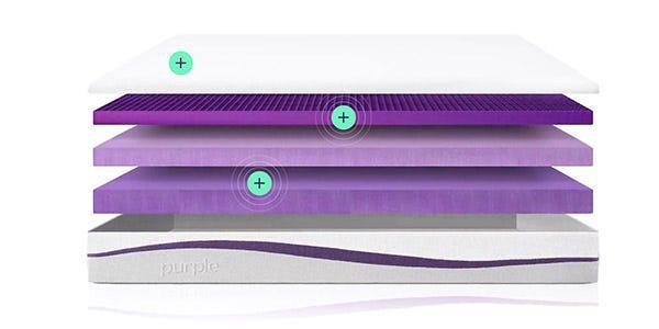 Inside layers of Purple mattress