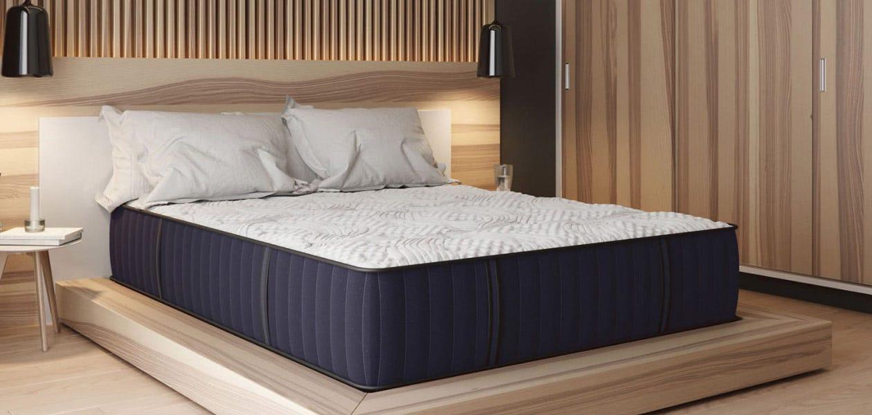 Sapphire Dream mattress on a platform bed