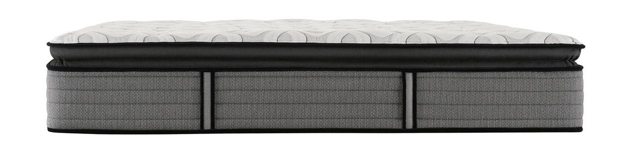 Sealy Response Cooper Mountain IV Cushion Firm Pillow Top mattress on top of a box spring