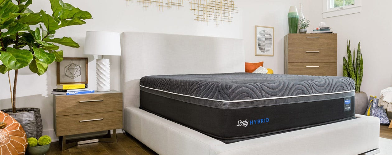 Gold Chill Ultra Plush Mattress in a room