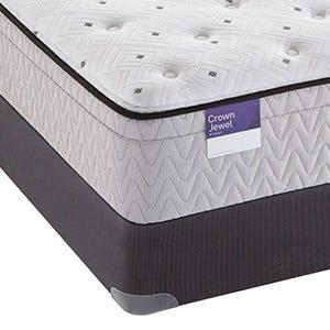 Corner View of the Inspirational Happiness Plush Euro Top mattress