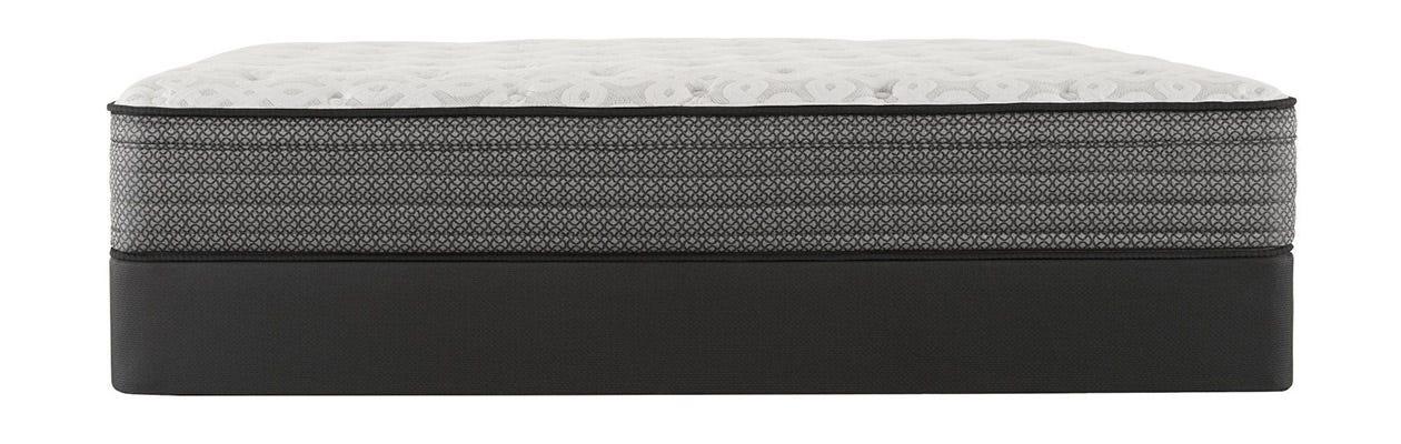Sealy Response Santa Paula IV Cushion Firm Euro Top mattress on top of a box spring