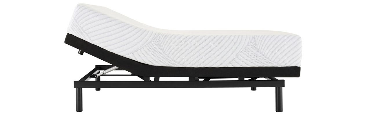 Sealy Upbeat Firm mattress on an adjustable base