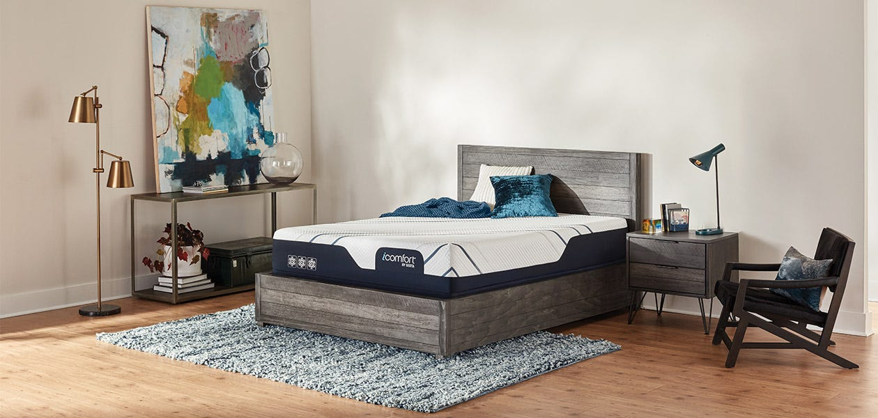 Serta iComfort CF3000 Medium Mattress - set up in a room