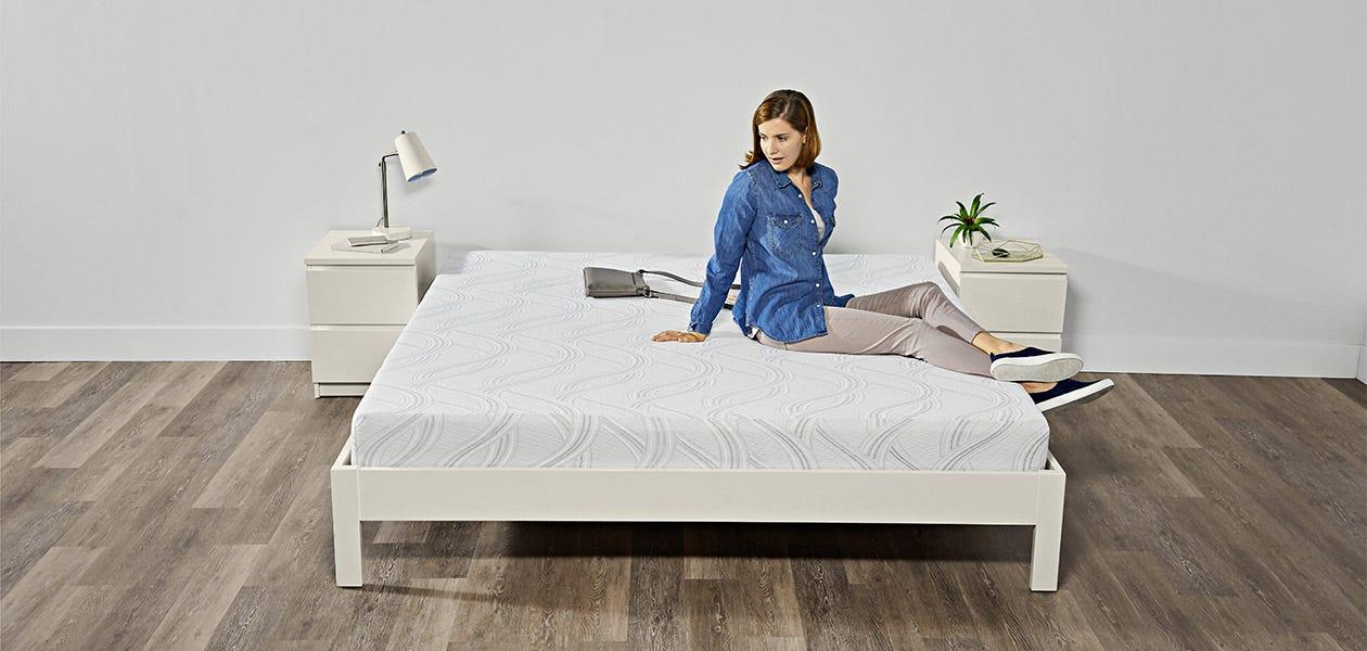Serta Sleep True Lifestyle - woman lounging on bed