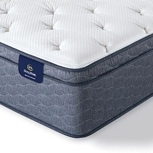 Serta Sleep True Alverson II Plush Euro Top mattress corner