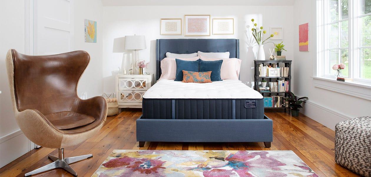 Estate mattress in a room
